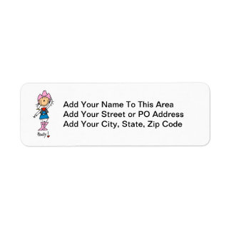 Cowgirl in Pink T-shirts and Gifts Label
