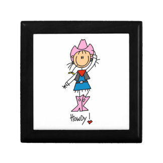 Cowgirl in Pink T-shirts and Gifts Trinket Boxes