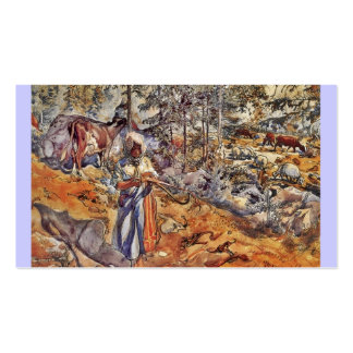 Cowgirl in the Meadow Double-Sided Standard Business Cards (Pack Of 100)