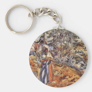Cowgirl in the Meadow Key Chain
