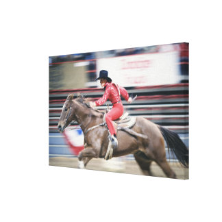 Cowgirl in the Rodeo Canvas Print