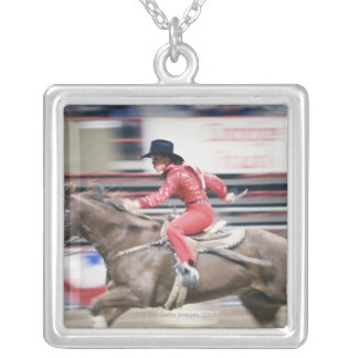Cowgirl in the Rodeo Silver Plated Necklace