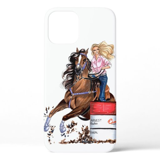 Cowgirl iPhone Case - Barrel Racer iPhone Case