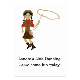 Cowgirl Line Dance Profile Card Large Business Card