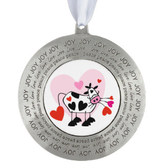 Cowgirl Love Pewter Ornament
