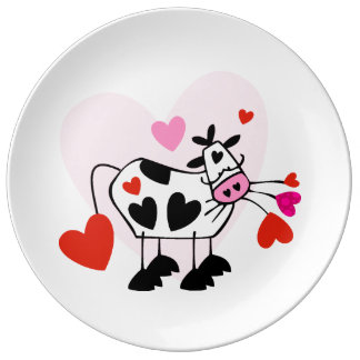 Cowgirl Love Porcelain Plates
