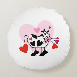 Cowgirl Love Round Pillow