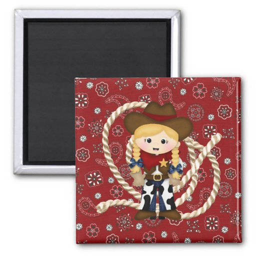 Cowgirl Refrigerator Magnets