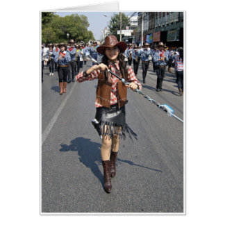 Cowgirl Majorette Greeting Cards