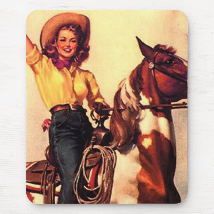 Cowgirl Mouse Pad
