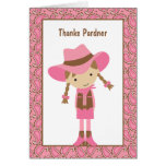 Cowgirl Note Cards Card