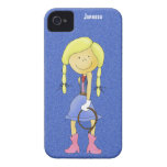 Cowgirl on Denim and iPhone Case iPhone 4 Cases