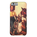 Cowgirl on Her Horse Barely There iPhone 6 Case