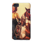 Cowgirl on Her Horse iPod Touch (5th Generation) Cases