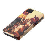 Cowgirl on Her Horse iPhone 4 Cases