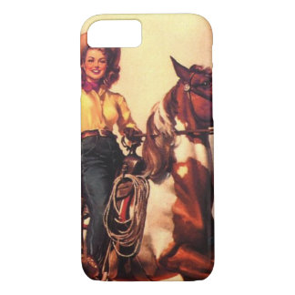 Cowgirl on Her Horse iPhone 7 Case