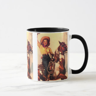Cowgirl on Her Horse Mug
