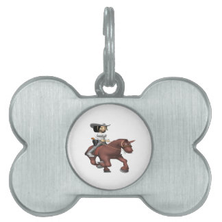 Cowgirl On Horse 2 Pet Tags