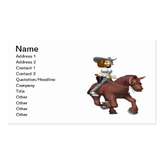 Cowgirl On Horse 3 Business Card Templates