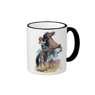 Cowgirl on Horse Coffee Mug