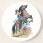 """Cowgirl on Horse Drink Coaster<br><div class=""""desc"""">Cowgirl On Horse Items</div>"""