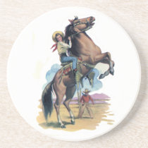 Cowgirl on Horse Drink Coaster