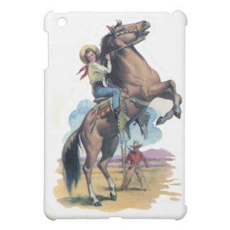 Cowgirl on Horse iPad Mini Cover