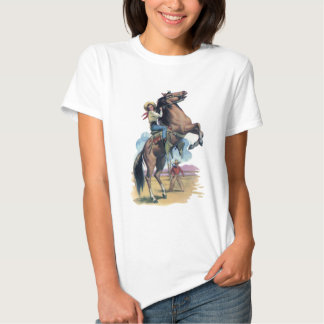 Cowgirl on Horse Shirt