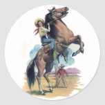 Cowgirl on Horse Sticker