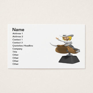 Cowgirl On Mechanical Bull Business Card
