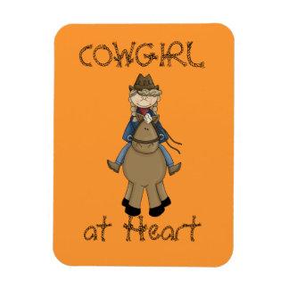 Cowgirl on Pony Premium Flexi Magnet