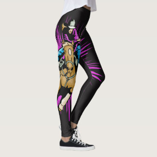 Cowgirl on Running Horse Western Leggings