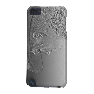 Cowgirl on silver metallic background iPod touch 5G cover