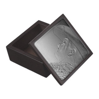 Cowgirl on silver metallic background jewelry box