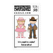 Cowgirl or Cowboy? Gender Reveal Postage Stamps