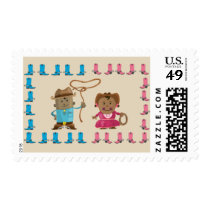 Cowgirl or Cowboy Gender Reveal Stamps