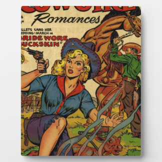 Cowgirl out on the Range Plaque