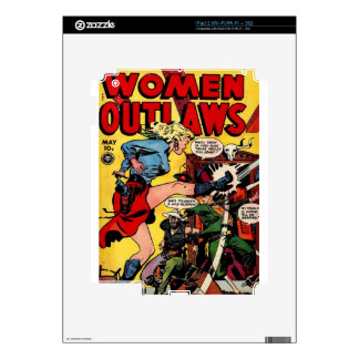 Cowgirl Outlaw Decal For The iPad 2