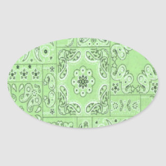 Cowgirl Paisley Bandana Lime Stickers