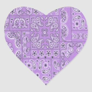 Cowgirl Paisley Lavender Stickers