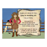 Cowgirl Party 5x7 Paper Invitation Card