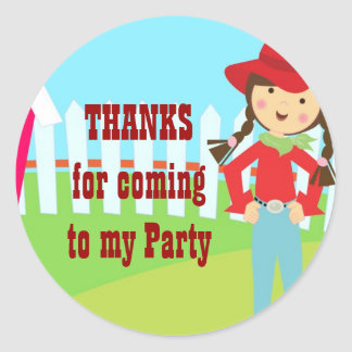 Cowgirl party Sticker