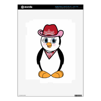 Cowgirl Penguin Skin For iPad 3