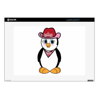 Cowgirl Penguin Skin For Laptop
