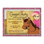 Cowgirl Personalized Invitaton Invitations