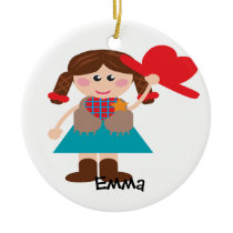Cowgirl Personalized Ornament