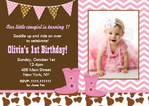 Cowgirl birthday invitations zazzle cowgirl photo birthday invitations filmwisefo