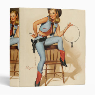 Cowgirl Pin-up Girl Binder