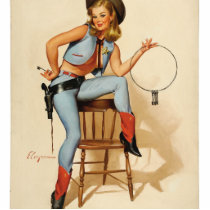 Cowgirl Pin-up Girl Cutout