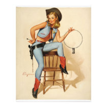 Cowgirl Pin-up Girl Flyer